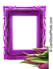 For someone special - Purple picture frame with purple...