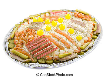 Party salad with fish