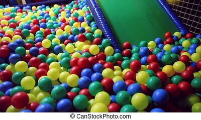 Nursery playing room with balls