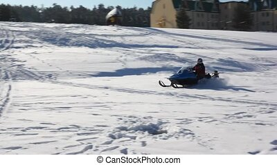 Snowmobile quickly goes