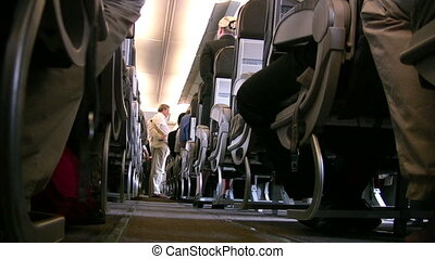 Inside the airplane