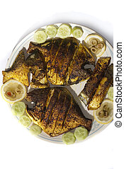 Fried Pomfret fish - Pomfret fish fried to perfection and...