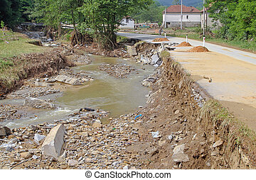 Natural disaster - Damage After River Flood Natural Disaster