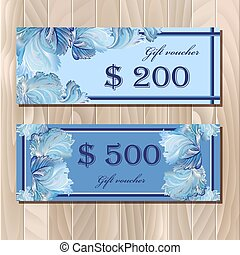 Voucher, Gift certificate, Coupon template for invitation,...