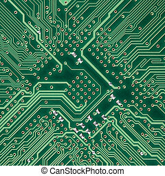 Circuit board electronic square texture - Green circuit...