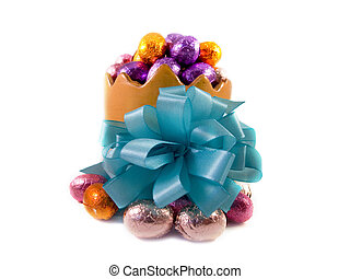 Stuffed easteregg - Big easteregg filled with little...