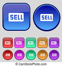Sell, Contributor earnings icon sign A set of twelve vintage...