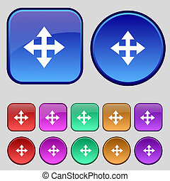 Deploying video, screen size icon sign A set of twelve...