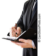 Businessman - Stock image of businessman writing on a...
