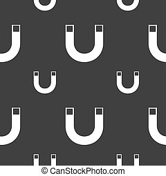 magnet sign icon. horseshoe it symbol. Repair sig. Seamless...