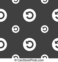 Upgrade, arrow icon sign Seamless pattern on a gray...