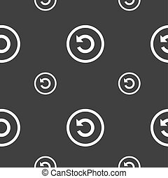 Upgrade, arrow, update icon sign Seamless pattern on a gray...