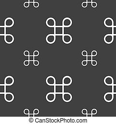 Keyboard Maestro icon Seamless pattern on a gray background...