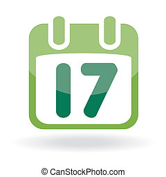 Calendar with date St Patricks day icon