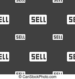 Sell, Contributor earnings icon sign Seamless pattern on a...