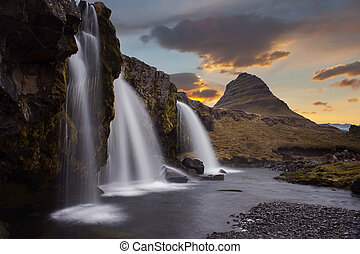 The landscape kirkjufell of Iceland - The landscape...