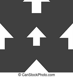 This side up sign icon. Fragile package symbol. Seamless pattern on a gray background.