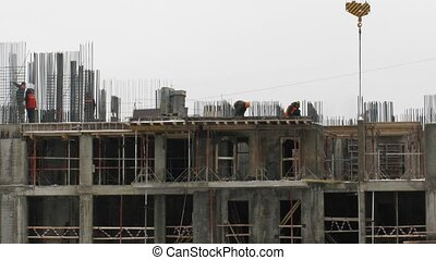 Construction of the building. Time lapse