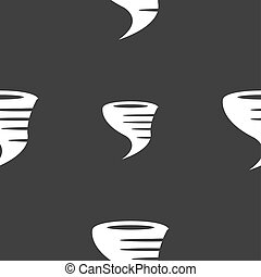 Tornado icon Seamless pattern on a gray background...