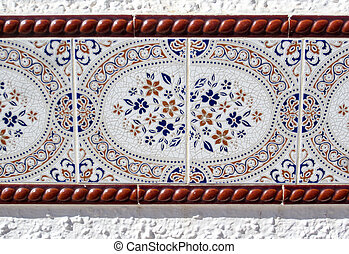 Elaborate mosiac wall tile in Spain - Elaborate mosiac wall...