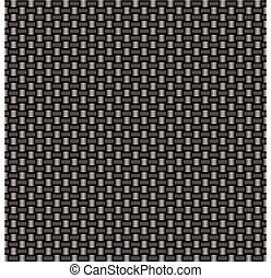 carbon fiber woven link - Silver woven carbon fiber...