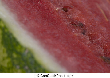 Water melon - closeup - A close up of a water melom...