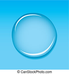 water droplet blue