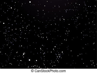 night sky black with stars - Black night sky with...