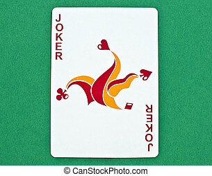 Jolly Joker - joker playing card with a green background