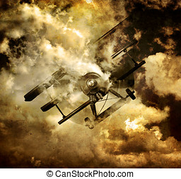 Flight Path Of Disaster - War Fighter Tri Plane Bellowing...