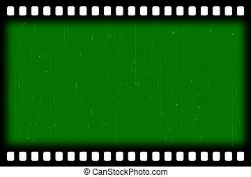 old film stripes BG - green screen - old film stripes...