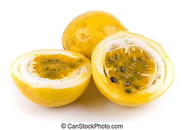 Passion Fruit aka Maracuja, Grenadilla or Maracuya .