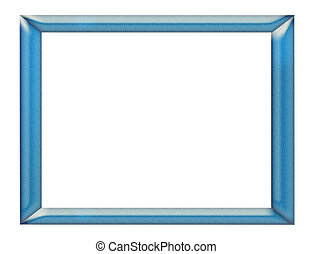 frame - polished and nuanced blue frame on white background
