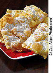 pancakes Genoese - typical dish of fritters Genoese called...