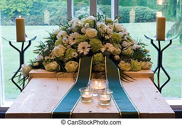 crematory, caixão
