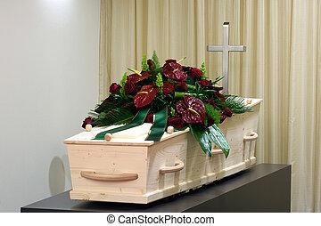 morgue, ataúd