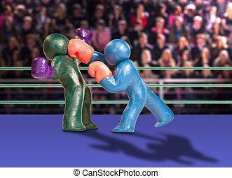 Plasticine, boxeadores
