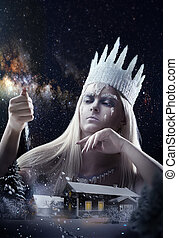 Gorgeous Snow queen - Gorgeous Snow Queen is sending a snow...
