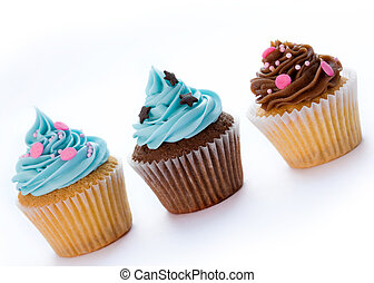 Cupcakes - Three cupcakes in a row