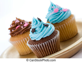 Cupcakes - Selection of cupcakes on a plate
