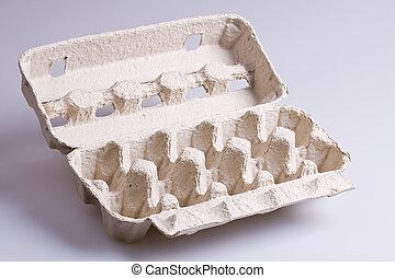 Egg Carton - Empty cardboard egg carton