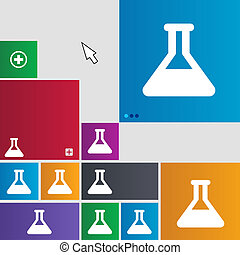 Conical Flask icon sign buttons Modern interface website...