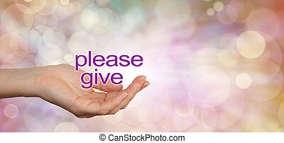 Please give charity campaign banner - Wide banner with a...