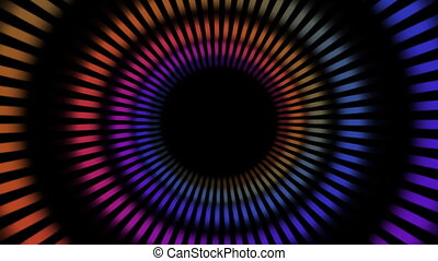 rainbow circle tunnel background