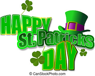 Leprechaun Hat St Patrick Vector illustration