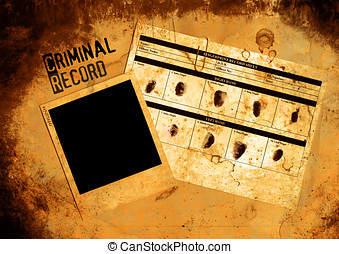 Police Criminal Record File - Grungy Blank Police Criminal...