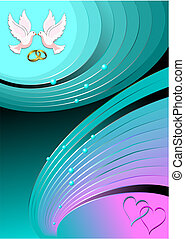 Abstract love background. Vector colored fine illustration