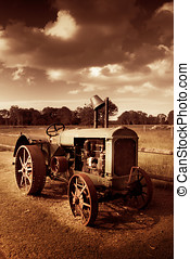 Tractor From Yesteryear - Turn The Crank And Take A Ride...