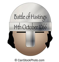 Battle Of Hastings Date Icon - A Norman helmet with the date...
