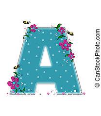 Alphabet Garden Buzz A - The letter A, in the alphabet set...
